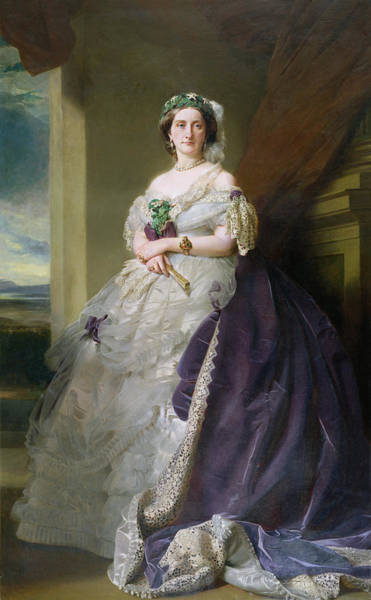 Wall Art - Photograph - Portrait Of Lady Middleton 1824-1901, 1863 by Franz Xaver Winterhalter