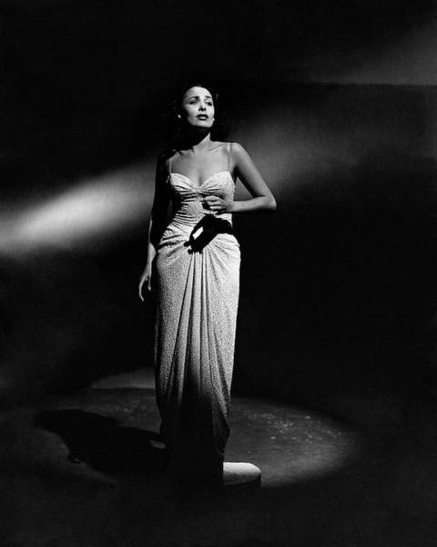 Singer Photograph - Portrait Of Lena Horne by John Rawlings