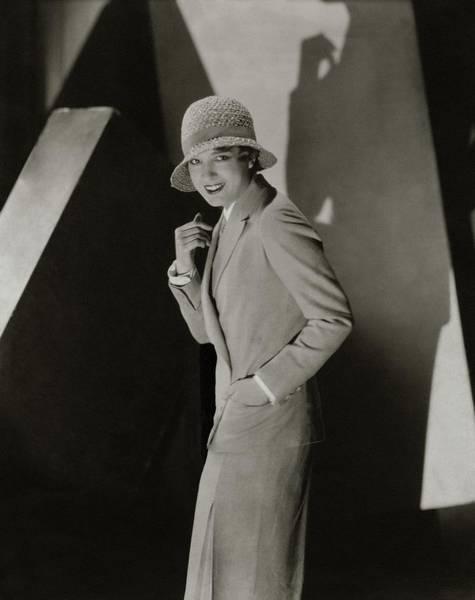 Straw Hat Photograph - Portrait Of Lili Damita by Edward Steichen