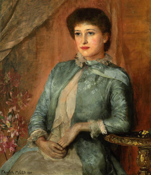 Wall Art - Painting - Portrait Of Lillie Langtry by George Frank Miles