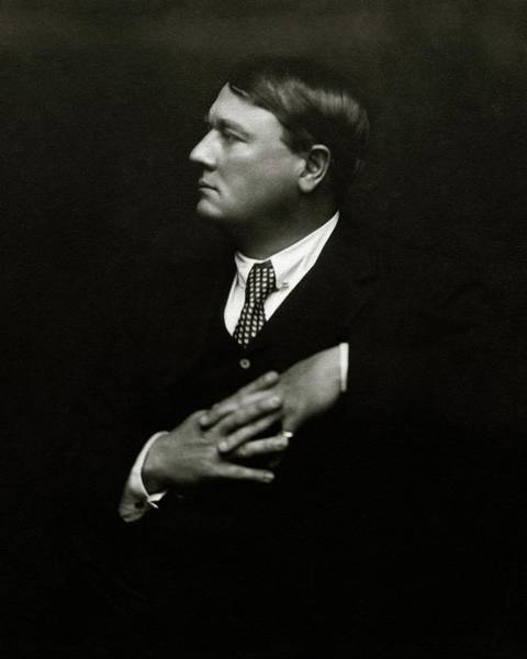 Profile Photograph - Portrait Of Lord Northcliffe by Ira L. Hill