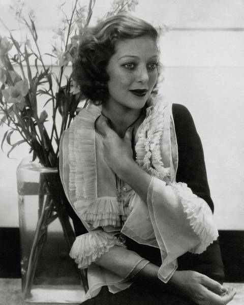 Vase Photograph - Portrait Of Loretta Young by Edward Steichen