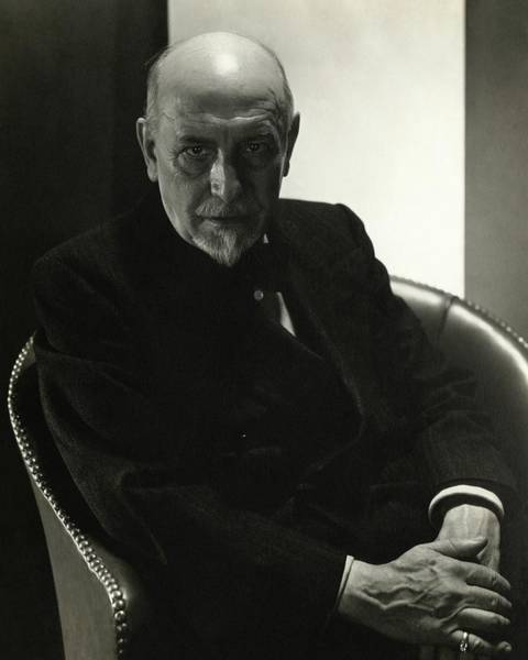 Male Photograph - Portrait Of Luigi Pirandello by Edward Steichen