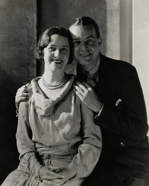 Male Photograph - Portrait Of Lynn Fontanne And Alfred Lunt by Charles Sheeler