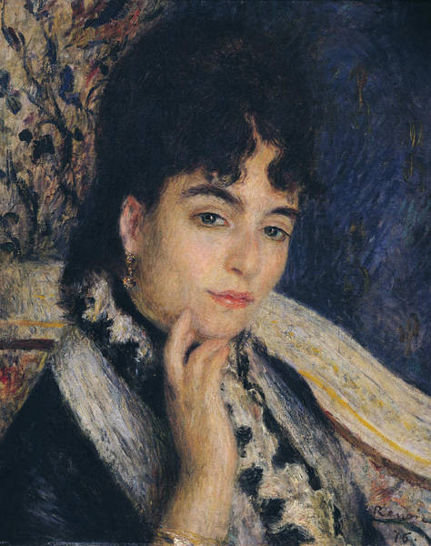 Renoir Wall Art - Painting - Portrait Of Madame Alphonse Daudet,1876  by Pierre Auguste Renoir