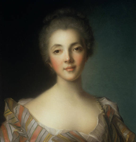 Enlightenment Painting - Portrait Of Madame Dupin by Jean-Marc Nattier