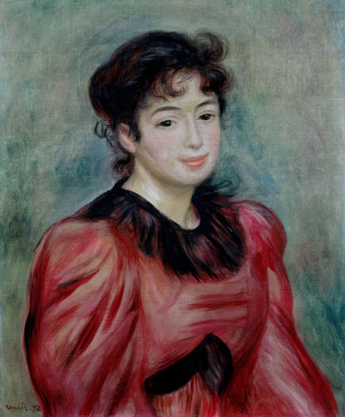 Impressionist Photograph - Portrait Of Mademoiselle Victorine De Bellio 1863-1957 1892 Oil On Canvas by Pierre Auguste Renoir