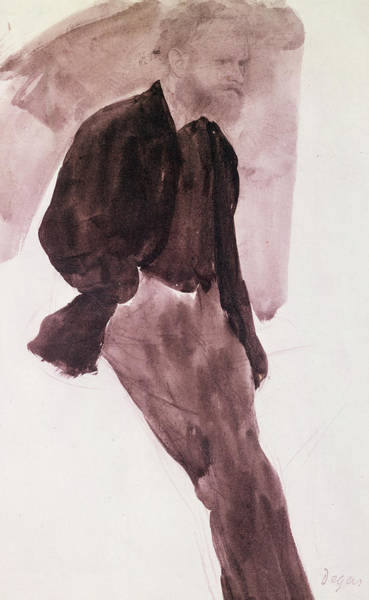 Casual Painting - Portrait Of Manet by Edgar Degas