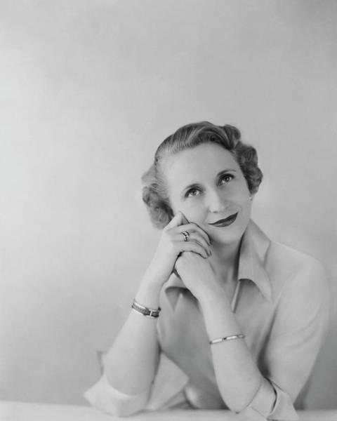 Relaxation Photograph - Portrait Of Margaret Truman Daniel by Karen Radkai