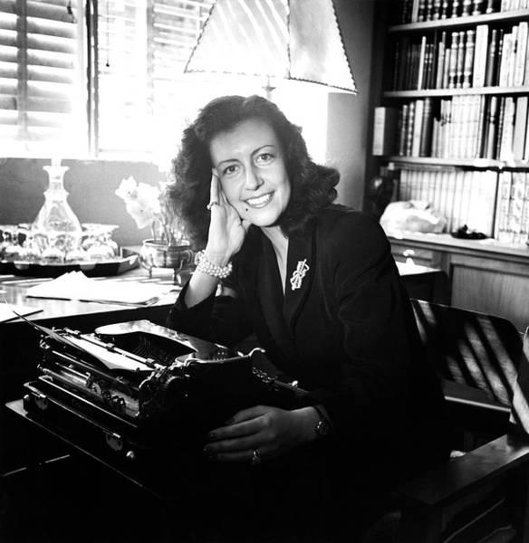 Desk Photograph - Portrait Of Margarita Villasenor by Horst P. Horst