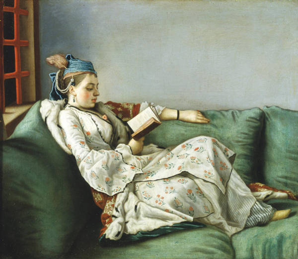 Jean Etienne Liotard Wall Art - Painting - Portrait Of Maria Adelaide Of France In Turkish-style Clothes by Jean-Etienne Liotard