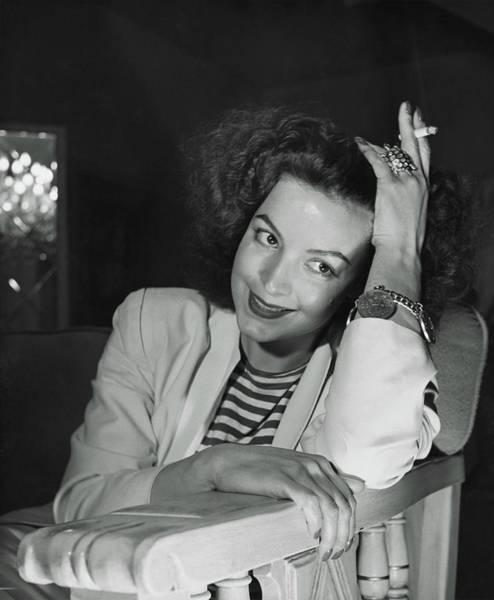1946 Photograph - Portrait Of Maria Felix by Horst P. Horst