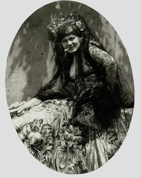 Photograph - Portrait Of Maria Jeritza In Costume by Edward Steichen