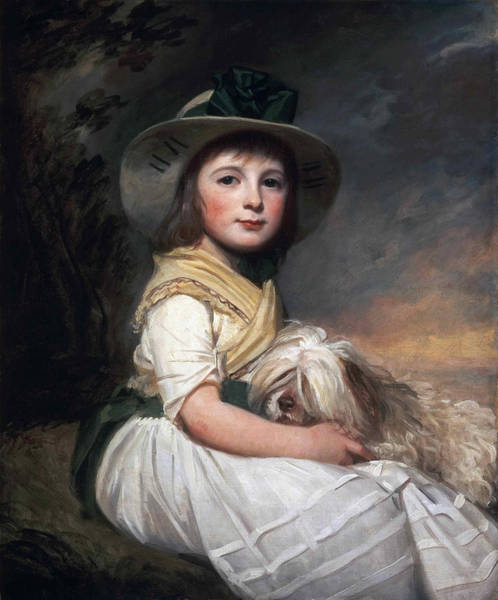 Romney Painting - Portrait Of Marianne Holbech by George Romney
