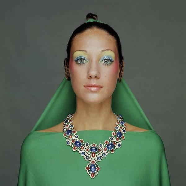 Photograph - Portrait Of Marisa Berenson by Gianni Turillazzi