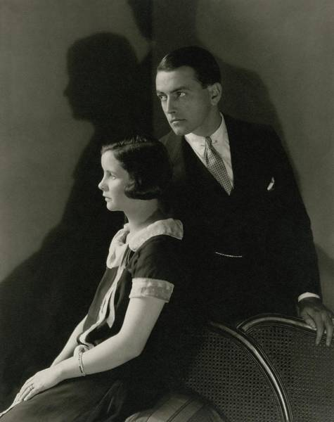 Male Photograph - Portrait Of Mary Hay And Richard Barthelmess by Edward Steichen