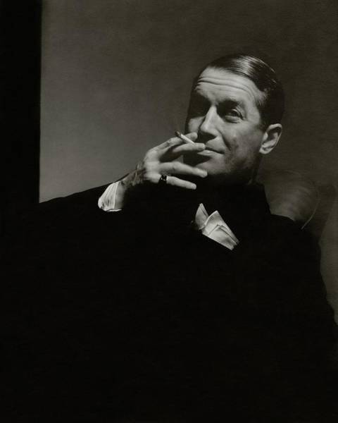 Male Photograph - Portrait Of Maurice Chevalier by Edward Steichen