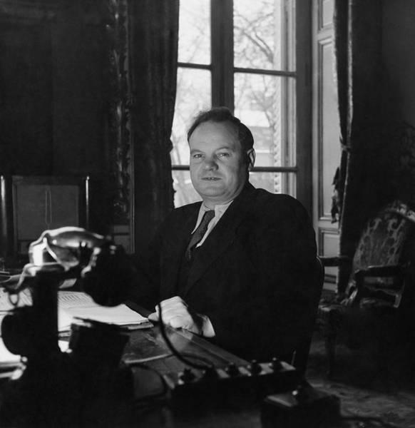 Desk Photograph - Portrait Of Maurice Thorez by Horst P. Horst