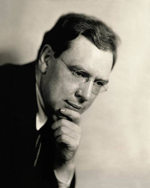 Poet Photograph - Portrait Of Maxwell Anderson by Florence Vandamm