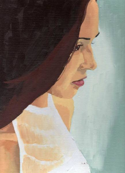 Painting - Portrait Of Miranda by Stephen Panoushek