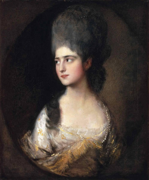 Thomas Gainsborough Wall Art - Painting - Portrait Of Miss Elizabeth Linley  Later Mrs Richard Brinsley Sheridan by Thomas Gainsborough