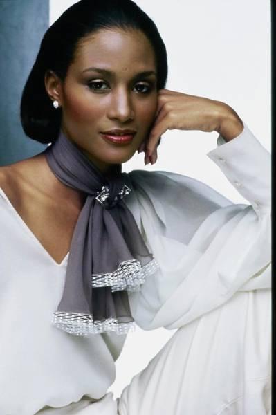 Wall Art - Photograph - Portrait Of Model Beverly Johnson by Bob Stone