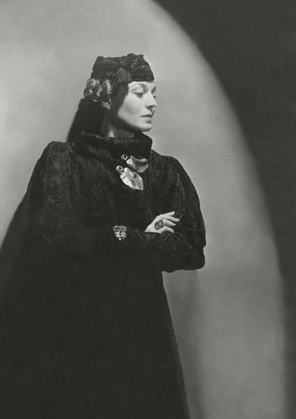 Photograph - Portrait Of Mona Von Bismarck by Horst P. Horst