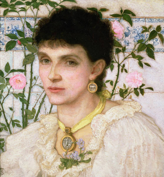 Pendant Painting - Portrait Of Mrs George Henry Boughton by English School