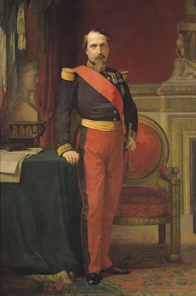 Wall Art - Photograph - Portrait Of Napoleon IIi 1808-73 1862 Oil On Canvas by Hippolyte Flandrin