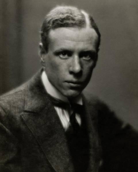 Photograph - Portrait Of Novelist Sinclair Lewis by Arnold Genthe