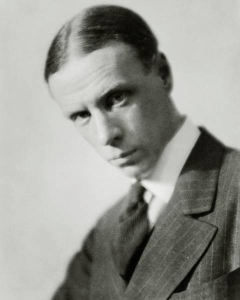 Head And Shoulders Photograph - Portrait Of Novelist Sinclair Lewis by Nickolas Muray