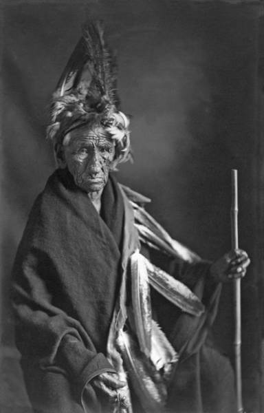 1911 Photograph - Portrait Of Old Wrinkle Meat by Underwood Archives