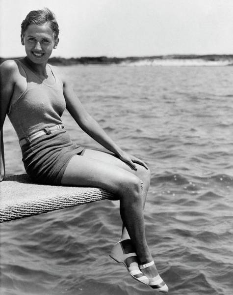 Water Sports Photograph - Portrait Of Olympic Swimmer Lenore Kight by Acme