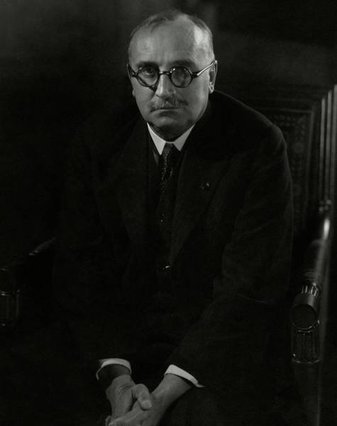 Poet Photograph - Portrait Of Paul Claudel by Edward Steichen