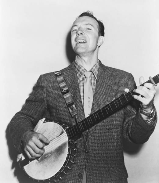 Musical Artists Photograph - Portrait Of Pete Seeger by Fred Palumbo
