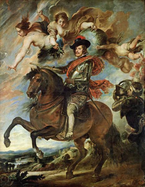 Horseback Photograph - Portrait Of Philip Iv 1605-65 1645 Oil On Canvas by Peter Paul Rubens