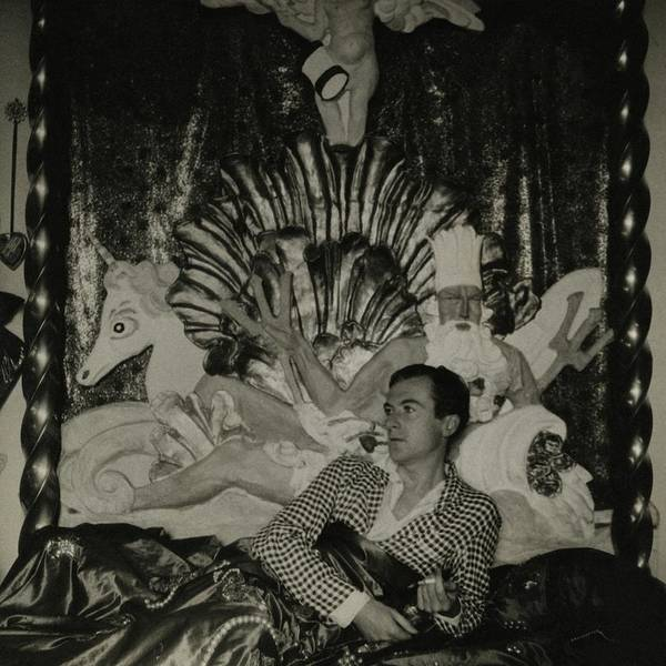 Bed Photograph - Portrait Of Photographer Cecil Beaton by George Hoyningen-Huene