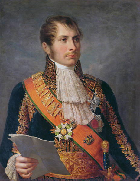 Napoleon Photograph - Portrait Of Prince Eugene De Beauharnais 1781-1824 Viceroy Of Italy And Duke Of Leuchtenberg by French School
