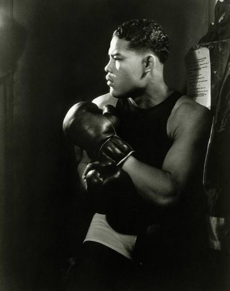 Portrait Of Professional Boxer Joe Louis Art Print by Lusha Nelson