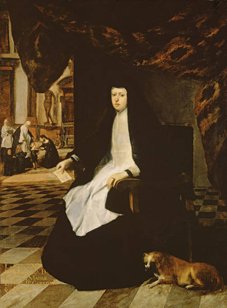 Grief Wall Art - Photograph - Portrait Of Queen Mariana Of Spain B.1631 In Mourning, 1666 Oil On Canvas by Juan Bautista Martinez del Mazo
