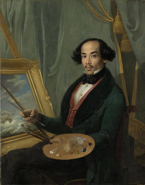 Portrait Of Raden Syarif Bustaman Saleh, Attributed Art Print by Quint Lox