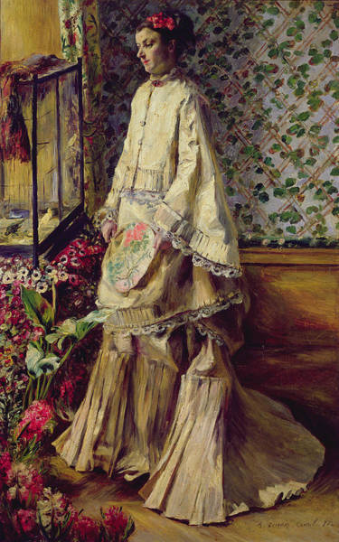 Mistress Photograph - Portrait Of Rapha, 1871 by Pierre Auguste Renoir