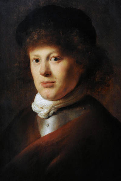 Wall Art - Photograph - Portrait Of Rembrandt 1606-1669 By Jan Lievens 1607-1674 by Bridgeman Images