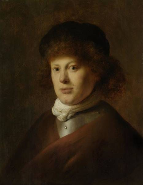 Baroque Photograph - Portrait Of Rembrandt Harmensz Van Rijn, 1628 Oil On Panel by Jan the Elder Lievens