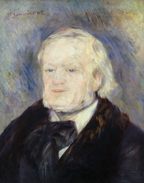 Wall Art - Painting - Portrait Of Richard Wagner by Pierre Auguste Renoir