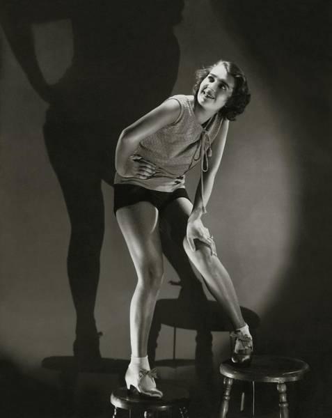 Bending Over Photograph - Portrait Of Ruby Keeler by Edward Steichen