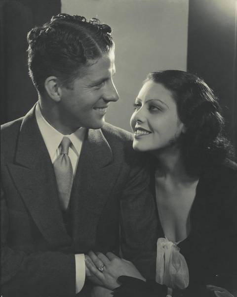 Love Photograph - Portrait Of Rudy Vallee And Fay Webb by Edward Steichen