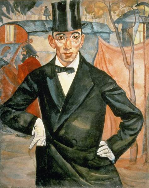 Top Hat Photograph - Portrait Of Sherling, From The Cycle Of Portraits Called The Face Of Russia, 1900 Oil On Canvas by Boris Dmitrievich Grigoriev