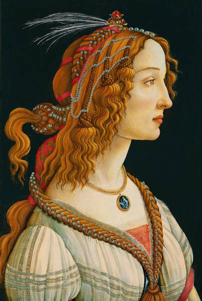 Wall Art - Painting - Portrait Of Simonetta Vespucci  by Botticelli
