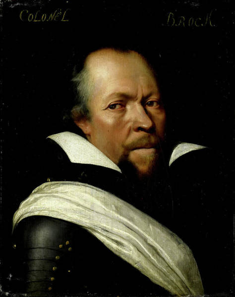 Wall Art - Drawing - Portrait Of Sir William Brog, Colonel Of The Old Scotch by Litz Collection